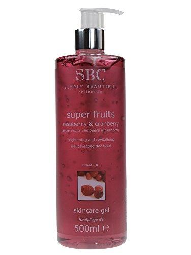 SBC Super Fruits Skin Care Gel Himbeere & Cranberry 500ml Hautpflege Gel