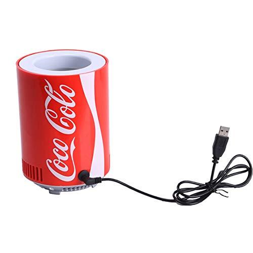 Weastion USB Kühlschrank Mini Cola Gefrierschrank Kühlschrank Kühltank Kühlschrank Auto Kühlschrank Kühlbarer Mini Kühlschrank Elektrischer Kühler (Color : Cola can)