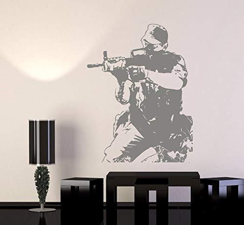 YIYEBAOFU bloemenmuurstickers groen, Muursticker Vinyl Art Muursticker Soldaat M Leger Troop Oorlog Garantie Kwaliteit Muursticker Home Decora