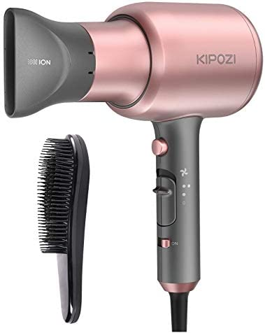 KIPOZI Negative Ions Hair Dryer Professional Salon Ionic Blow Dryer 1875 Watt Hairdryer with product image