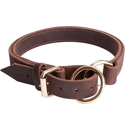 Pet Collars Leather Dog Collar - Best Heavy Duty Dog Collar - Durable Strong Adjustable for Small Medium Large X-Large Jin Mao, De Mu, Kasro, Yingdou, Du Gao,Walking Running Training Leash Pet Supplie