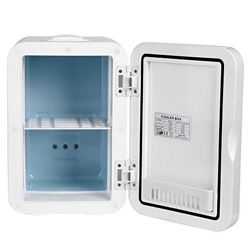Cooluli Classic White Mini frigorifero da 8 litri compatto, portatile, caldo caldo, doppio uso, mini frigo per la cura della pelle, latte materno, alimenti, farmaci, camera da letto e viaggi(Spina UE)