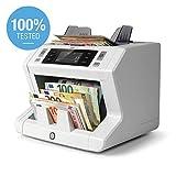 Safescan 2665-S - Compteuse de billets à grande vitesse pour les billets non triés avec détection des faux billets sur 7 points - Vérification des billets à 100%