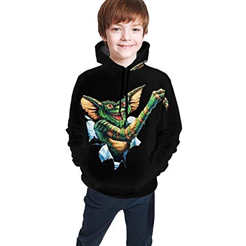 Sudadera con Capucha Unisex para jóvenes de Manga Larga suéter cálido de 7 a 20 años Gremlins Good-Looking L