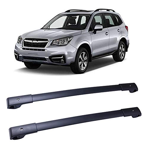LUJUNTEC Aluminum Roof Mounted Roof Rack Cross Bar Set Fit for 2014-2019 Subaru Forester Wagon 4-Door 2.0L 2.5L Top Rail Carries Luggage Carrier