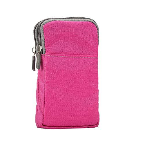 GUOQING Clip para cinturón de teléfono al aire libre, casual, cruzado, hombro, casual, cartera, bolsa para teléfono celular iPhone 11, 11 Pro, 11 Pro, Max/XS Mas/XS/X, funda para teléfono celular