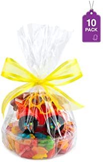 """Clear Basket Bags 12"""" x 18"""" Cellophane Gift Bags for Small Baskets and Gifts 1.2 Mil Thick… (10 Bags)"""