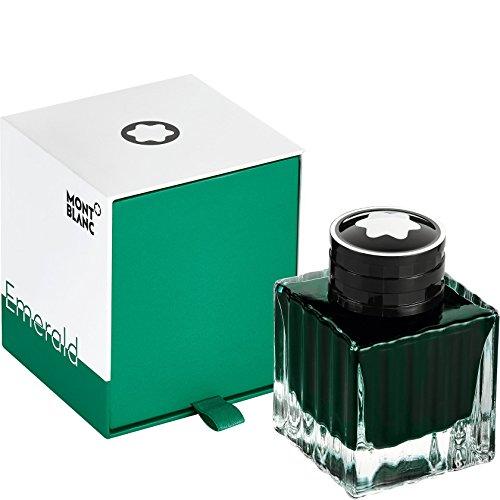 Montblanc 118124 - Tintero en lujoso diseño para plumas estilográficas – Frasco de Tinta Liquida, alta calidad, color Emerald Green (verde esmeralda), 50ml
