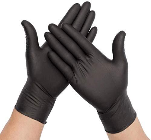Nitrilhandschuhe Premium Schwarz in Größe M | 200 Stück | Einweghandschuh in praktischer Spenderbox latexfrei | Ideal für Hygienebereiche - wie Lebensmittelbranche, Kosmetik UVM. (M)