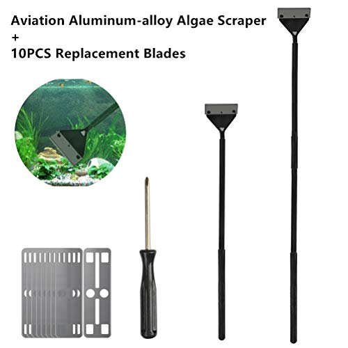 BUYGOO 65cm Algae Scraper for Glass Tank, Aviation Aluminum-alloy Fish Tank...