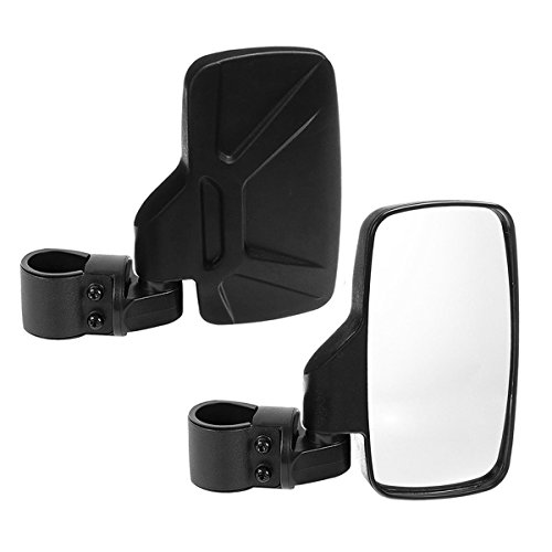 "SPAUTO UTV Side View Mirrors (Pack of 2) For 1.6"" - 2inch Roll Cage Bar, Universal Offroad Rear View Side Mirror for UTV High Impact Shatter-Proof Tempered Glass(Fits Driver and Passenger Side)"