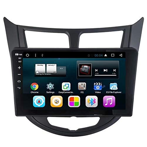 TOPNAVI 16GB Head Unit Anroid 7.1 Vidéo de voiture pour Hyundai Verna 2010 2011 2012 2013 2014 2015 2016 Radio de voiture GPS Navigation Stereo avec 2Go de RAM Quad Core WIFI 3G RDS Lien de liaison BT
