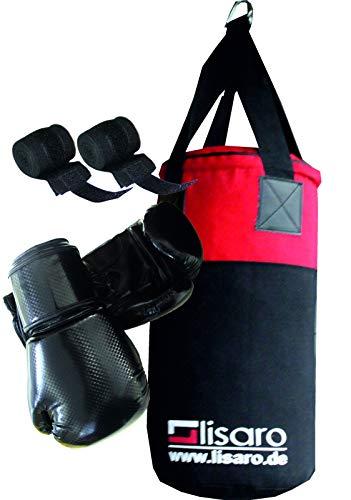 Lisaro - Set sacco da boxe per bambini/ragazzi (sacco da boxe, guantoni da boxe), circa 9 kg, ca. 60...