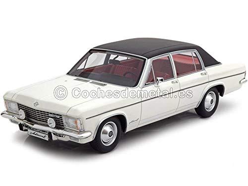 Opel Admiral B, weiss/schwarz, 1971, Modellauto, Fertigmodell, BoS-Models 1:18