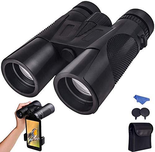 Binoculares para Adultos, Observación De Aves, Caza, Observación De Aves, Visión Nocturna, 12x42, Lente Gran Angular HD Multicapa, Impermeable, Prisma De Techo BAK4