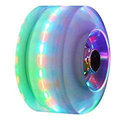 in budget affordable In-line skate wheels ABEC-9 Luminous wheels with bearings Luminous skateboard wheels, 4 pieces.  32 mm x…