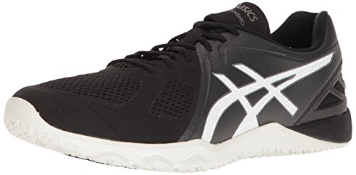 ASICS Men's Conviction X Cross-Trainer Shoe, Black/White/White, 11 M US
