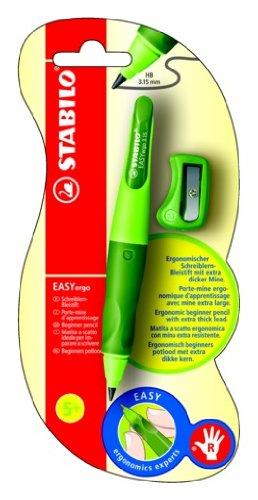 STABILO EASYergo 3.15 1er Blister rechts grün - ergonomischer Druckbleistift (HB) mit Spitzer