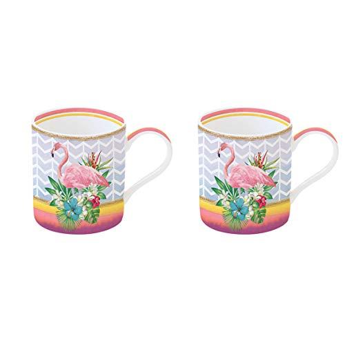 Easy Life 283INGO Coffret 2 Mugs, Porcelaine, Multicolore, 35 cm