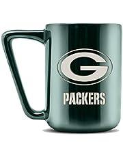 NFL Green Bay Packers keramisk kaffemugg med metallisk finish   keramik i proffskvalitet   lasergraverad teamlogotyp   BPA   diskmaskinssäker   46 ml