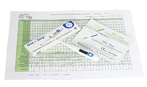 Termómetro digital basal para control del ciclo, 10 pruebas de ovulacion y 10 pruebas de embarazo