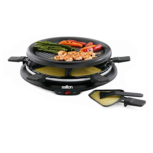 Salton TPG-315 6-Person Nonstick and Raclette,Black