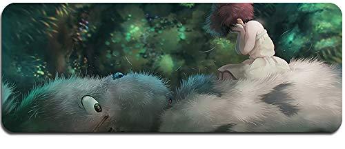 Alfombrilla de ratón, Mi vecino Totoro Alfombrilla de ratón Ordenador portátil Grueso 900 * 400 Alfombrillas de ratón XXL Alfombrilla de juego Anime Gamer Teclado Alfombrillas grandes-D 800X300X3mm