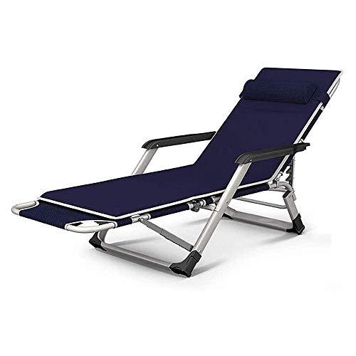 FTFTO Inicio Accesorios Chaise Lounges Sillón reclinable Cama Plegable Playa Baño Tumbona Respaldo Ajustable Sofá Perezoso Balcón Sillón de jardín