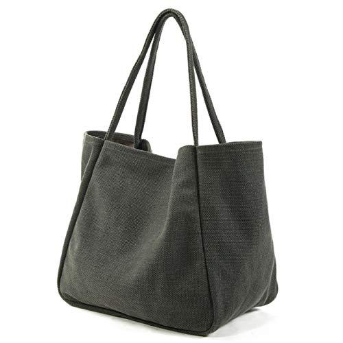FSSQYLLX Reusable Shopper Bags Women's Hemp Cloth Shopping Bag Reusable Solid Color Oversized Bag Shopping Bag