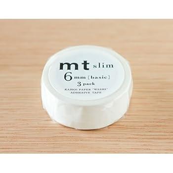 カモ井 mt マスキングテープ slim K 6mm マットホワイト MTSLIM23