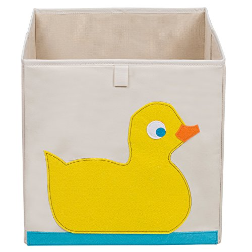 Wildkin Enfants 13 Pouces Cube de Rangement pour Les garçons et Les Filles, contribue à Garder Les Jouets, Jeux, Designs Assurer la Coordination avec Notre literie et Salle Décor