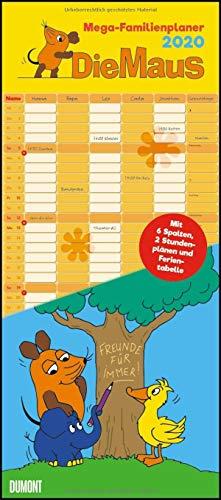 Die Maus 2020 – DUMONT Mega-Familienkalender mit 6 Spalten – Familienplaner mit 2 Stundenplänen und Ferientabelle – Hochformat 30,0 x 68,5 cm: Zur Sendung mit der Maus