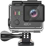RUIXFFT Mini Action Cam in Bicicletta con Telecamera Sportiva con Telecomando, videocamera Subacquea 4K 30FPS Impermeabile con Kit di Accessori