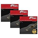 Tiger Chitarra Acustica, Super Light (.011-.052), Corde In Acciaio per Chitarra Acustica...