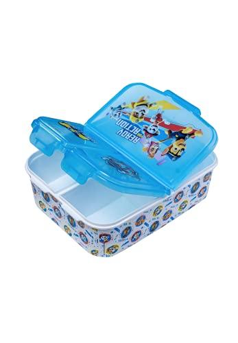 Paw Patrol - La squadra dei cuccioli bambini Premium Lunch Box Colazione Box Spuntino con 3 Scompartimenti