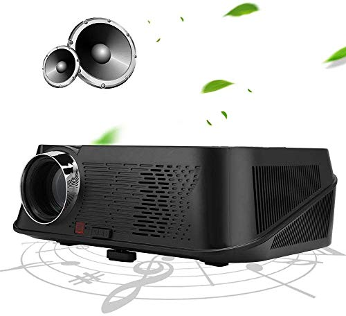 FANGSHUAI Projector, Mini Movie Projector met Hifi Speaker, Draagbare LED Projector Ondersteuning PC Laptop USB Stick USB/SD/AV/HDMI Input voor Video/Film/Game/Home Theater Video Projector