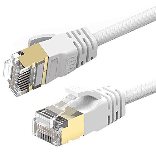 Reulin 1.5M Cat 7A Ultra Sottile - Gigabit Cavo di Rete Ethernet Velocità fino a 40G-1000 MHz Compatibile con Cat5 Cat5e Cat6 Cat6a Cat7 Cat7A+ Switch Router Modem Per Reti ad Alta Velocità
