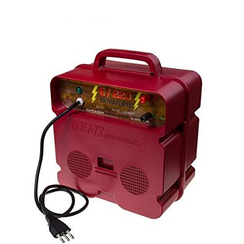 Elettrificatore 220 V per Recinto Elettrico da 8 J e 15000 V recinti elettrici recinzione da pascolo elettrificate per animali come cinghiali cervi caprioli volpi cavallo mucca pony Gemi Elettronica