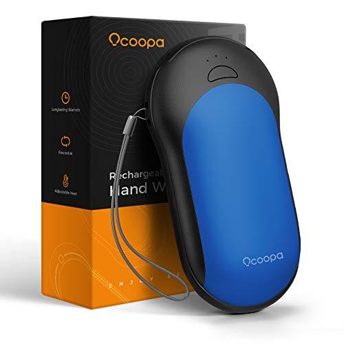 OCOOPA Handwärmer PD Schnelllade Powerbank 10000mAh wiederaufladbare Handwärmer tragbare Taschenwärmer elektrische Handwärmer USB-Ladegerät Geschenk für Frauen Kinder Mann (Blau)