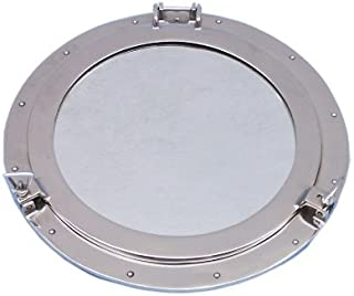 Hampton Nautical  Deluxe Class Chrome Porthole Mirror, 20