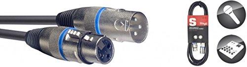 Stagg SMC1 BL Mikrofon-Kabel (1m, XLR-Buchse-auf-XLR-Stecker) blau