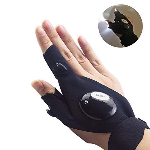 Pêcher Magic Strap Fingerless gant DEL-Lampe de Poche