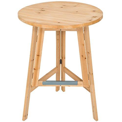 TecTake 403249 Holz Stehtisch, klappbarer Bistrotisch, Stabiler Klapptisch, runder Holzstehtisch, Partytisch, massiv, Höhe ca. 110 cm, Ø 79 cm