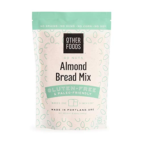 Other Foods Low Carb Almond Flour Bread Mix, Gluten-free Paleo Friendly Baking Mix - Easy to Bake - 100% Grain Free, Dairy Free, Corn Free, No Refined Sugar or Soy (Almond, Single)