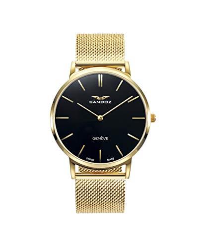 Sandoz - Reloj Acero IP Dorado Brazalete Sr Classic & Slim Sa - 81445-97