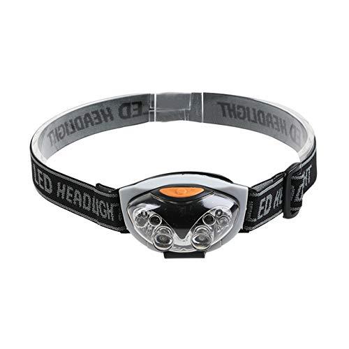 UEB LED-Scheinwerfer, superhell, Stirnlampe, Taschenlampe, Akku, Mini, drehbar, für den Außenbereich, 3 Modi, Scheinwerfer, Kabel, Radfahrer, Jagd, Camping, Wandern