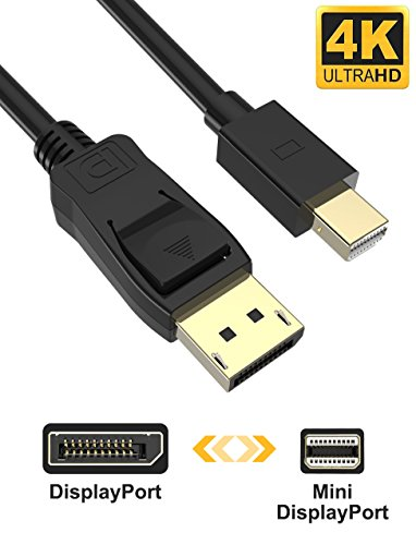 Mini Displayport/Thunderbolt auf Displayport Kabel 2m Elegear 4K 60Hz DP Kabel Zertifiziert Apple Thunderbolt Kabel Kompatibel mit Thunderbolt 2, Thunderbolt 1 Port für HP, Asus, Dell, Lenovo