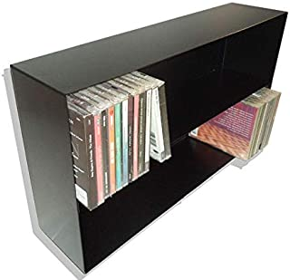 Mueble ESTANTERIA para CD Compact Disc - Metalica Color Negro - para 100 CD - / Ref. 1191