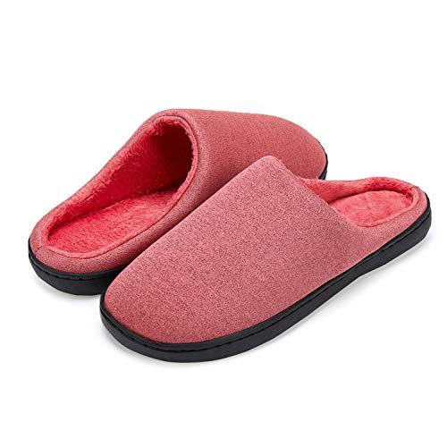 LeKuni Mujer y Hombre Espuma Memory Zapatillas de Interior Zapatos Antideslizantes Zapatillas de casa Ultraligero cómodo y Antideslizante Pantuflas de casa para (MT_FENSE_40)