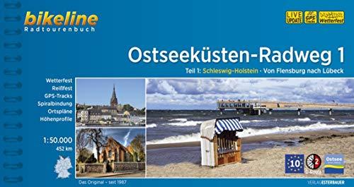 Ostseeküsten-Radweg / Ostseeküsten-Radweg Teil 1: Schleswig-Holstein - Von Flensburg nach Lübeck, 1:50.000, 452 km